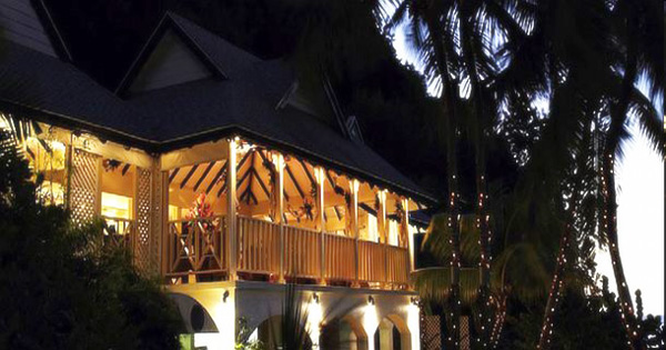 Akasha St Lucia Luxury Holiday Villa Rental, Caribbean Villa Rental, Le Sport The Body Holiday Tao Restaurant at night