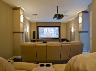 Dedicated Home Cinema at St Lucia's Best Holiday Villa with 9 reclining seats