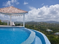 View over St Lucia's Best Holiday Villa Rental infinity edge