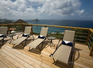 Champagne at St Lucia's Best Holiday Villa Rental on the Sun Deck